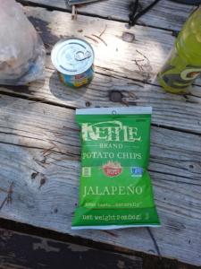 ハラペーニョ味のポテトチップス