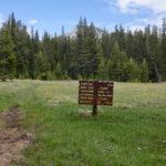 ジョンミューアトレイル ヨセミテ国立公園の道標