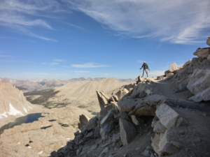 ギターレークからマウントホイットニー頂上への登り