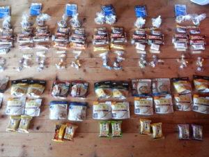 ジョンミューアトレイルの食料の準備