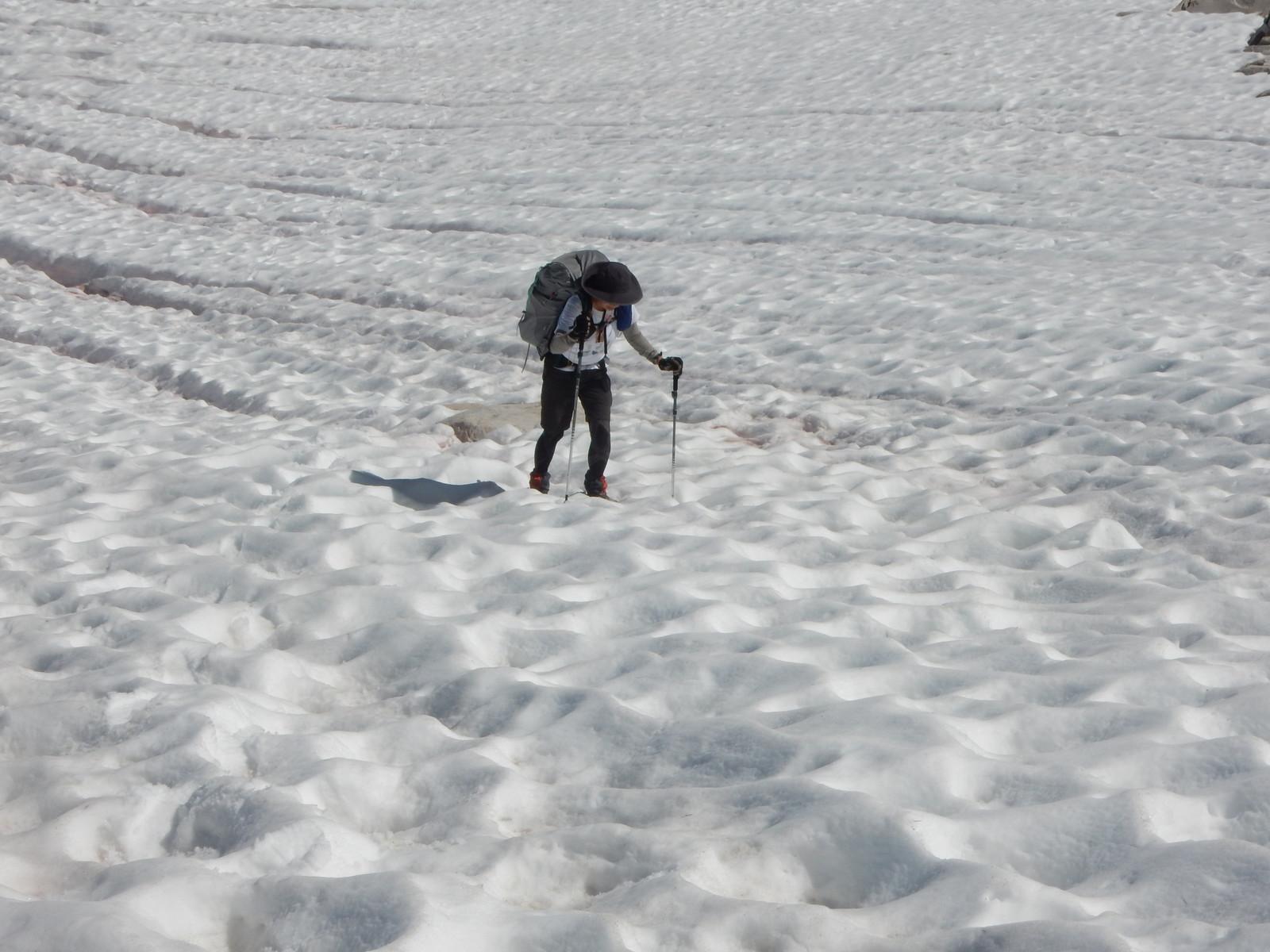 ジョンミューアトレイ、雪のパス(峠)超え