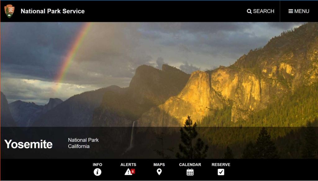 ヨセミテ国立公園のサイト